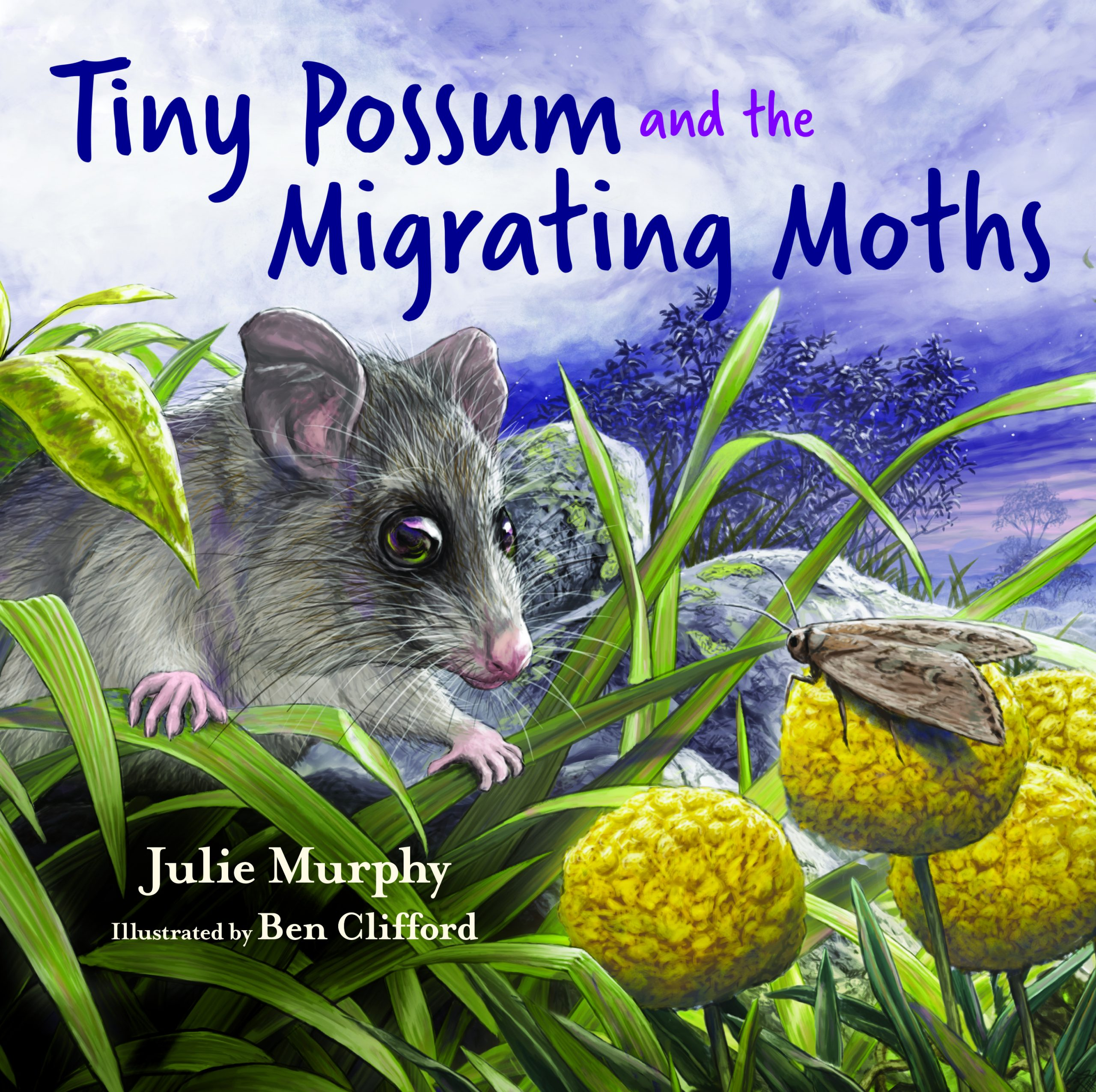 Cover of Tiny Possum and the Migrating Moths (CSIRO Publishing, 2021)